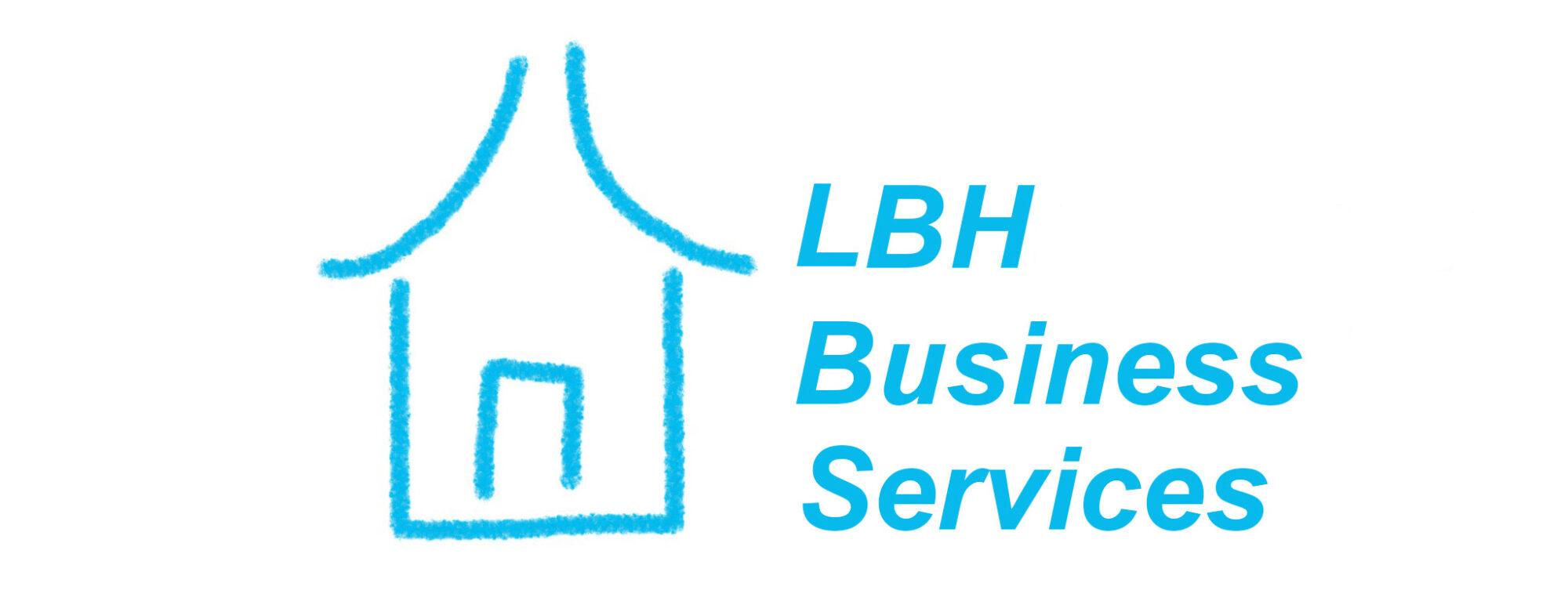 LBH Business Services blue house logo