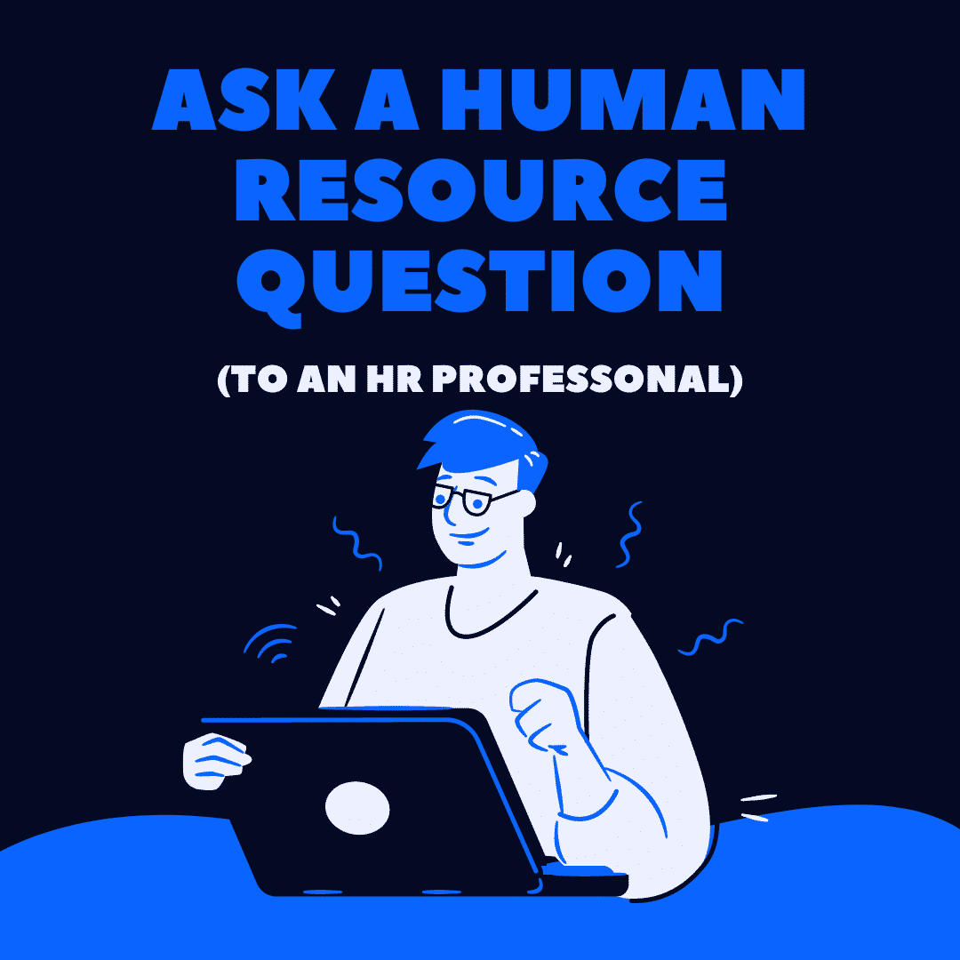 Blue and White Illustrative ask a human resource question