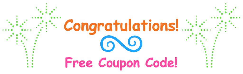 Congratulations - Free Coupon Code